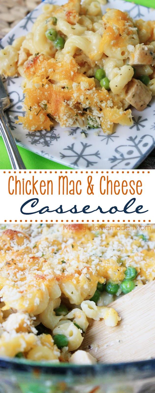 Chicken Mac And Cheese Casserole  Chicken Mac & Cheese Casserole