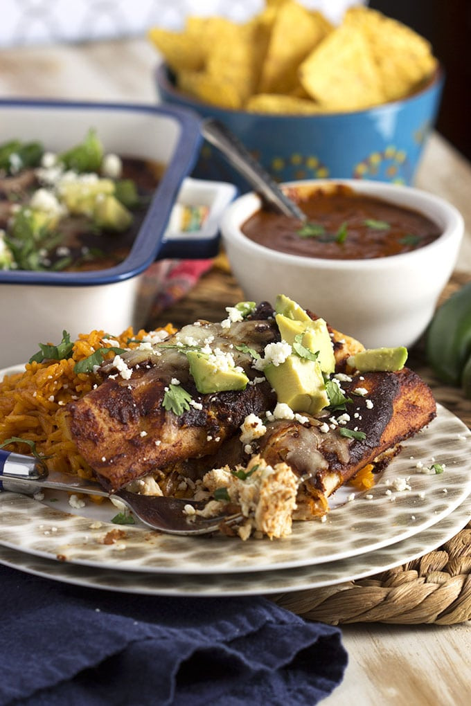 Chicken Mole Enchiladas  Super Easy Chicken Mole Enchiladas The Suburban Soapbox
