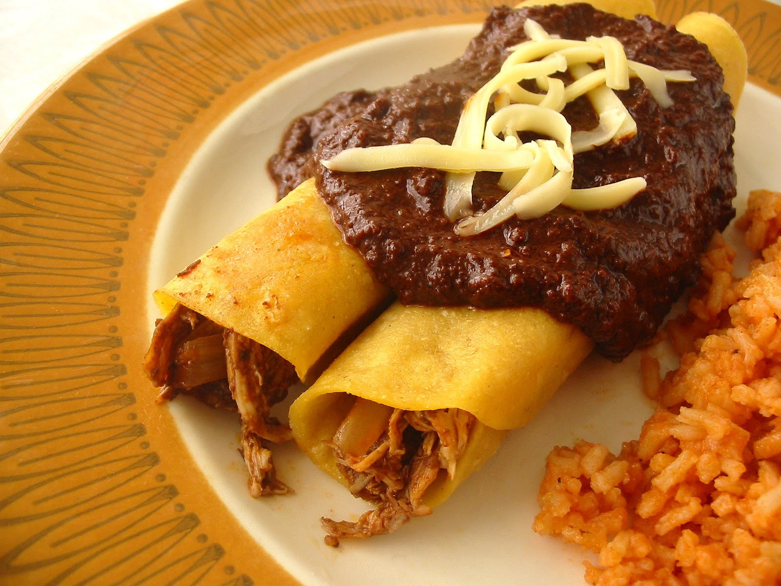 Chicken Mole Enchiladas  The Hungry Texan Chicken Mole Enchiladas Enmoladas