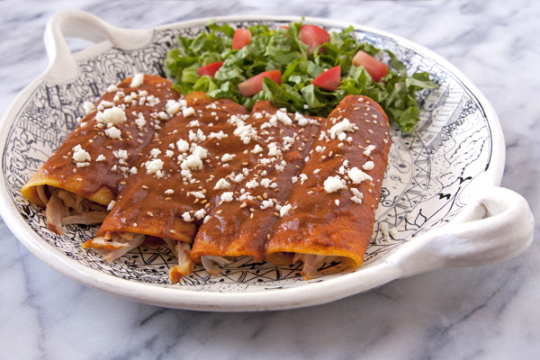 Chicken Mole Enchiladas  Chicken Mole Enchiladas Muy Bueno Cookbook