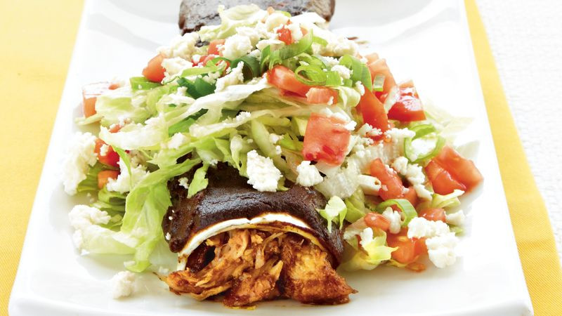 Chicken Mole Enchiladas  Chicken Mole Enchiladas Supreme recipe from Betty Crocker