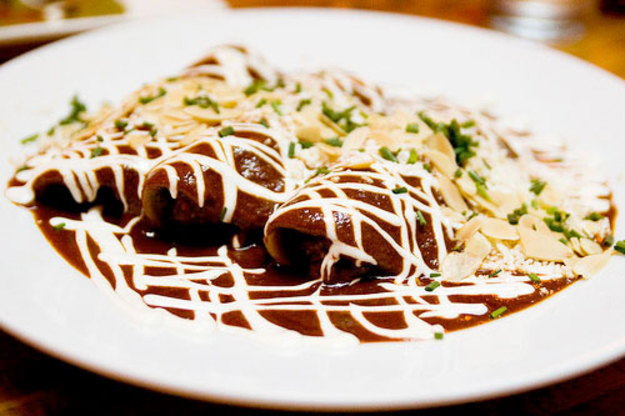 Chicken Mole Enchiladas  Serious Heat Silky Spicy Mole Sauce Recipe