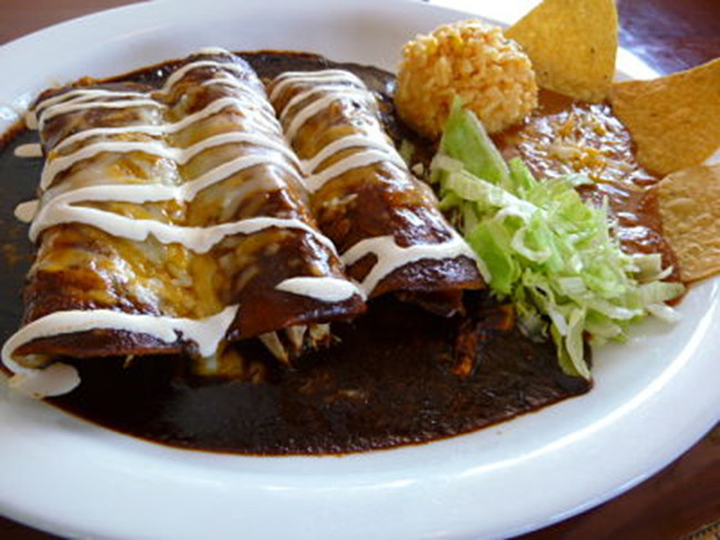 Chicken Mole Enchiladas  Super Easy Chicken Mole Enchiladas – Mi Huerta Products