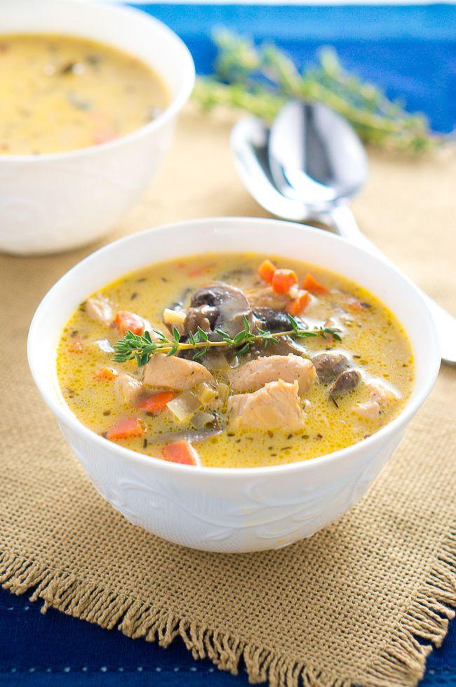 Chicken Mushroom Soup  Creamy Chicken and Mushroom Soup