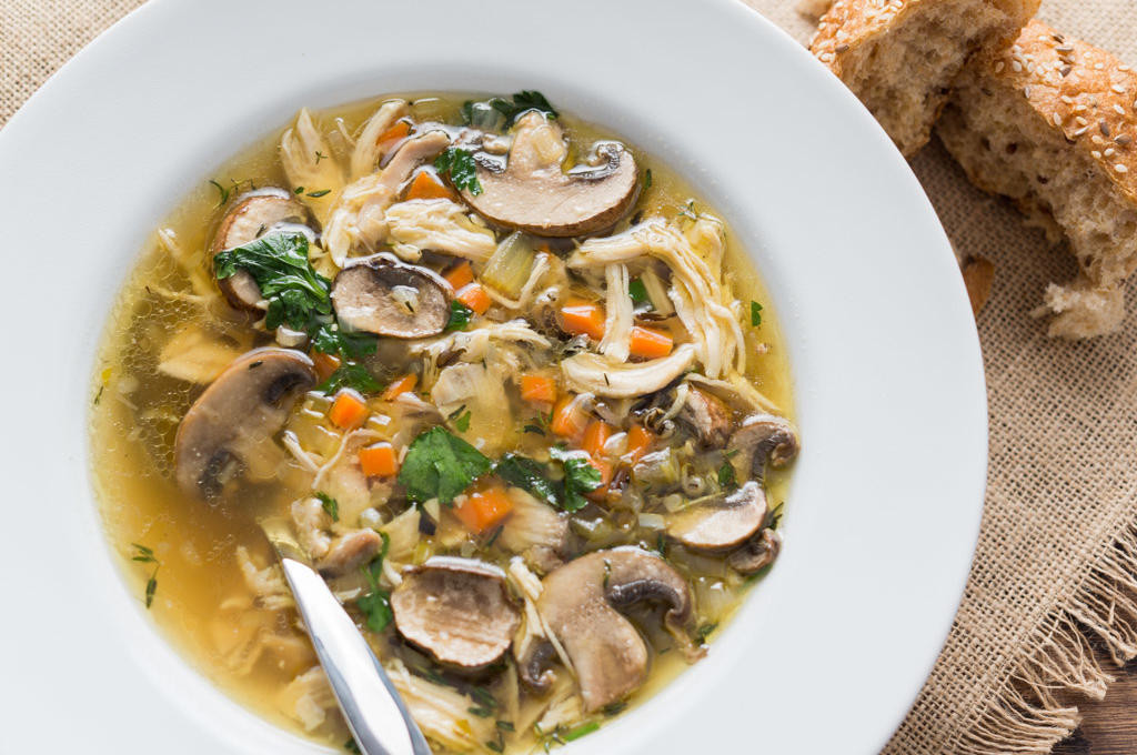 Chicken Mushroom Soup  mushroom chicken and rice soup