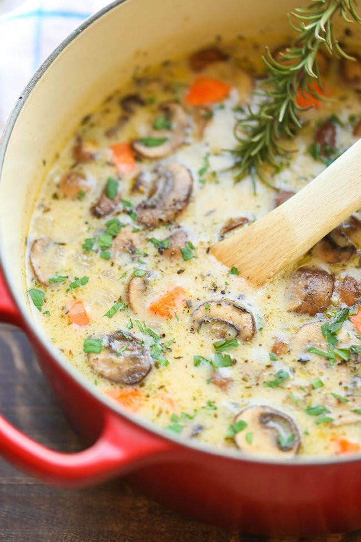 Chicken Mushroom Soup  Creamy Chicken Mushroom Soup