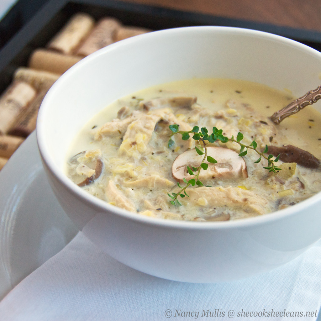 Chicken Mushroom Soup  Chicken Leek and Mushroom Soup
