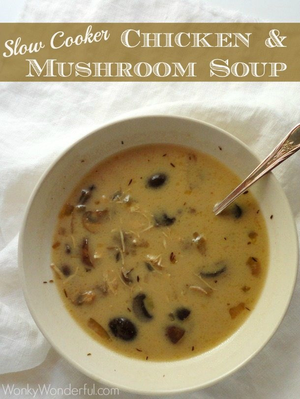 Chicken Mushroom Soup  chicken mushroom soup slow cooker