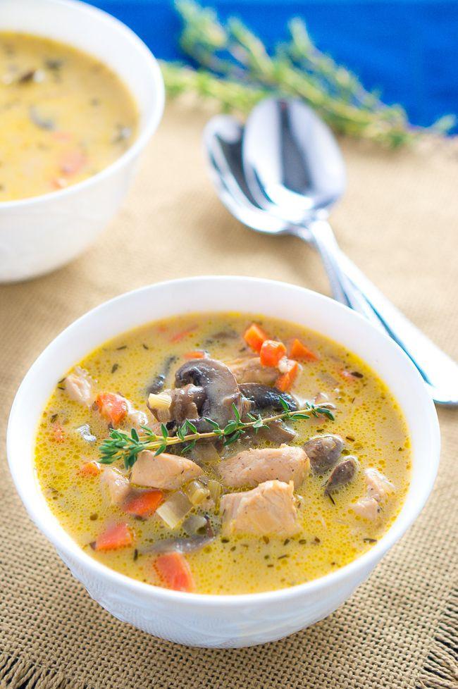Chicken Mushroom Soup  healthy chicken and mushroom soup recipe