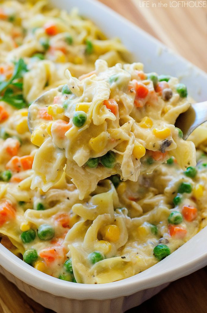Chicken Noodle Casserole Recipes  Chicken Noodle Casserole Life In The Lofthouse