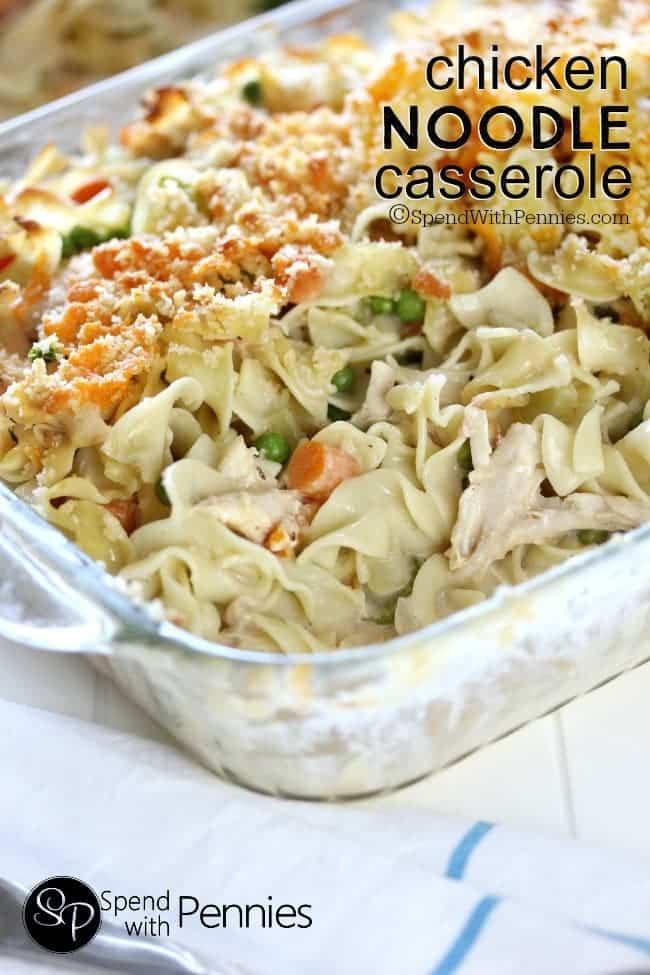 Chicken Noodle Casserole Recipes  Chicken Noodle Casserole from Scratch