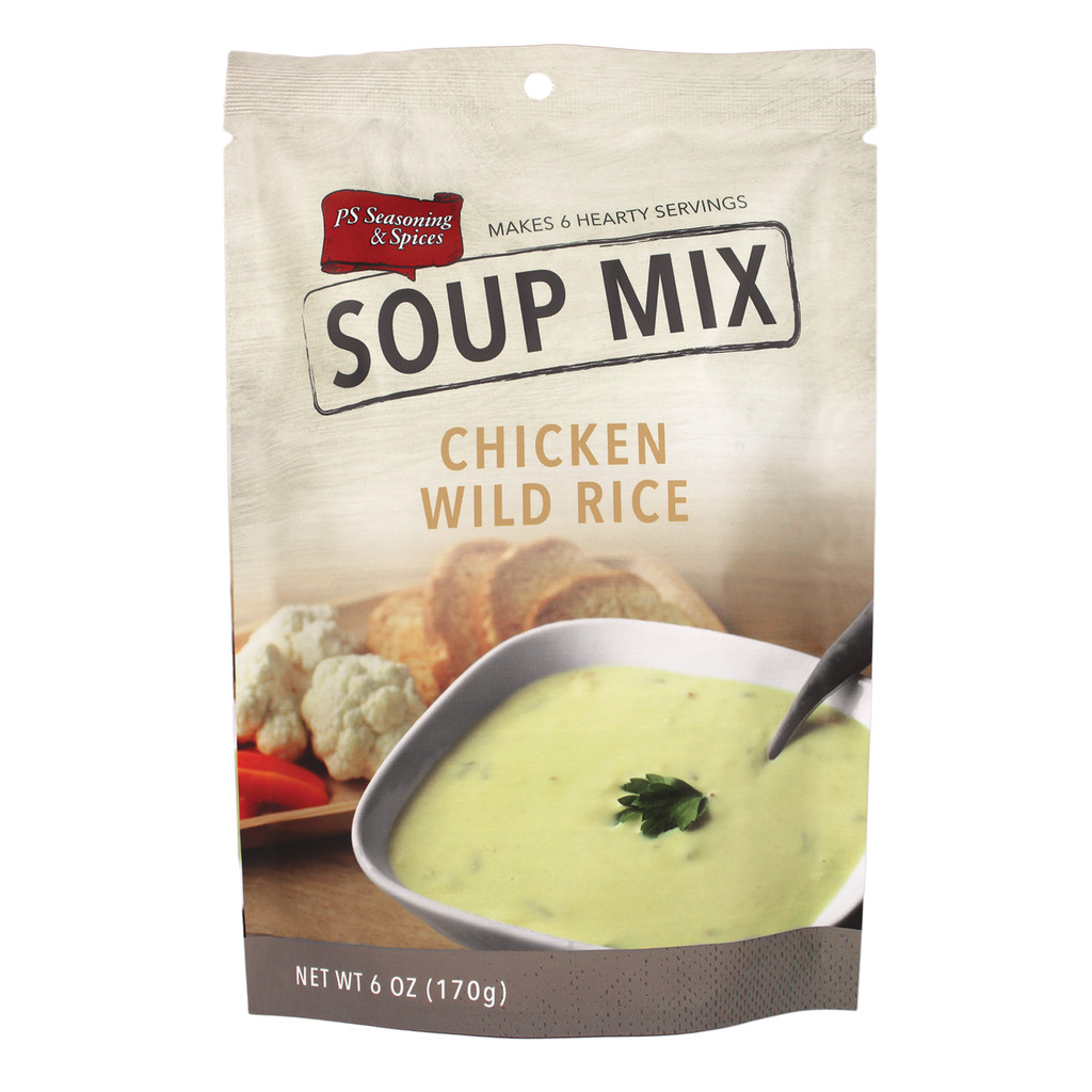 Chicken Noodle Soup Seasoning  Chicken w Wild Rice Soup Mix – PS Seasoning & Spices