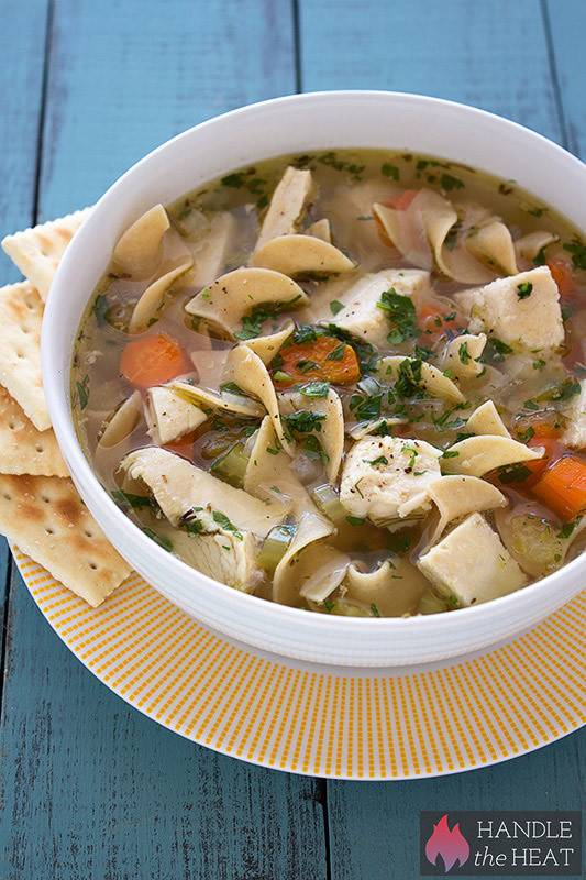 Chicken Noodle Soup Slow Cooker  Slow Cooker Chicken Noodle Soup Handle the Heat