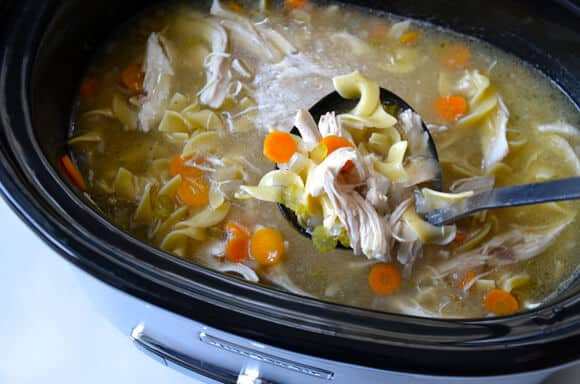 Chicken Noodle Soup Slow Cooker  Just a Taste