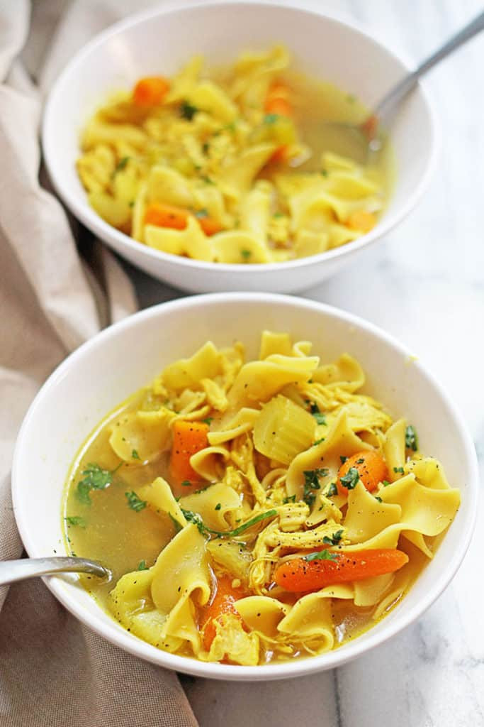 Chicken Noodle Soup Slow Cooker  Slow Cooker Chicken Noodle Soup Grandbaby Cakes