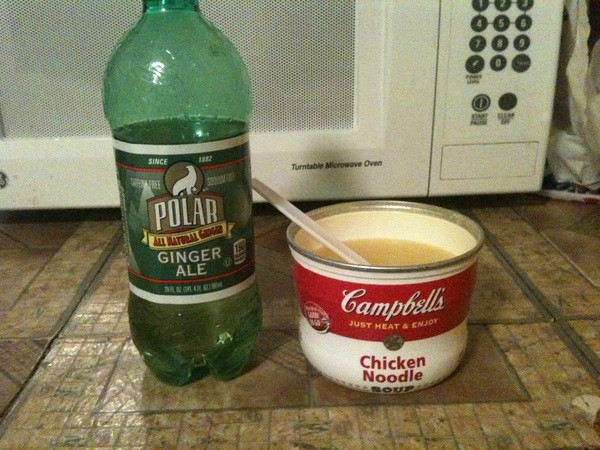 Chicken Noodle Soup With A Soda On The Side  Chicken Noodle Soup With A Soda The Side