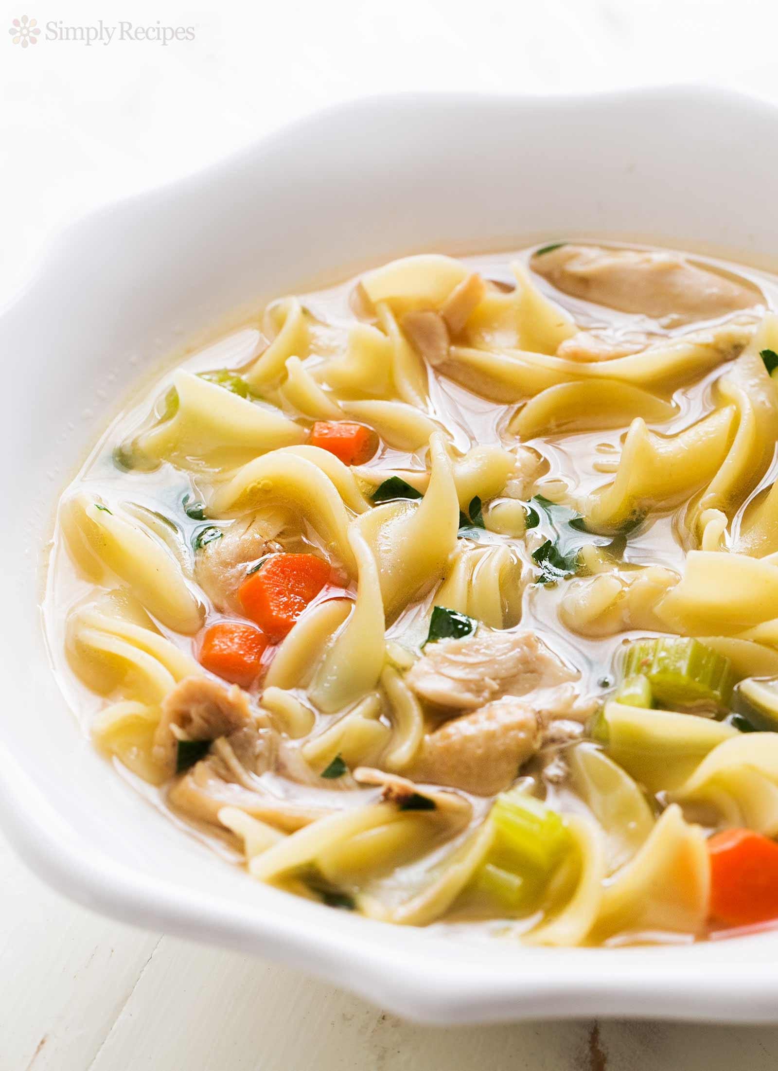 Chicken Noodles Recipe  Homemade Chicken Noodle Soup Recipe
