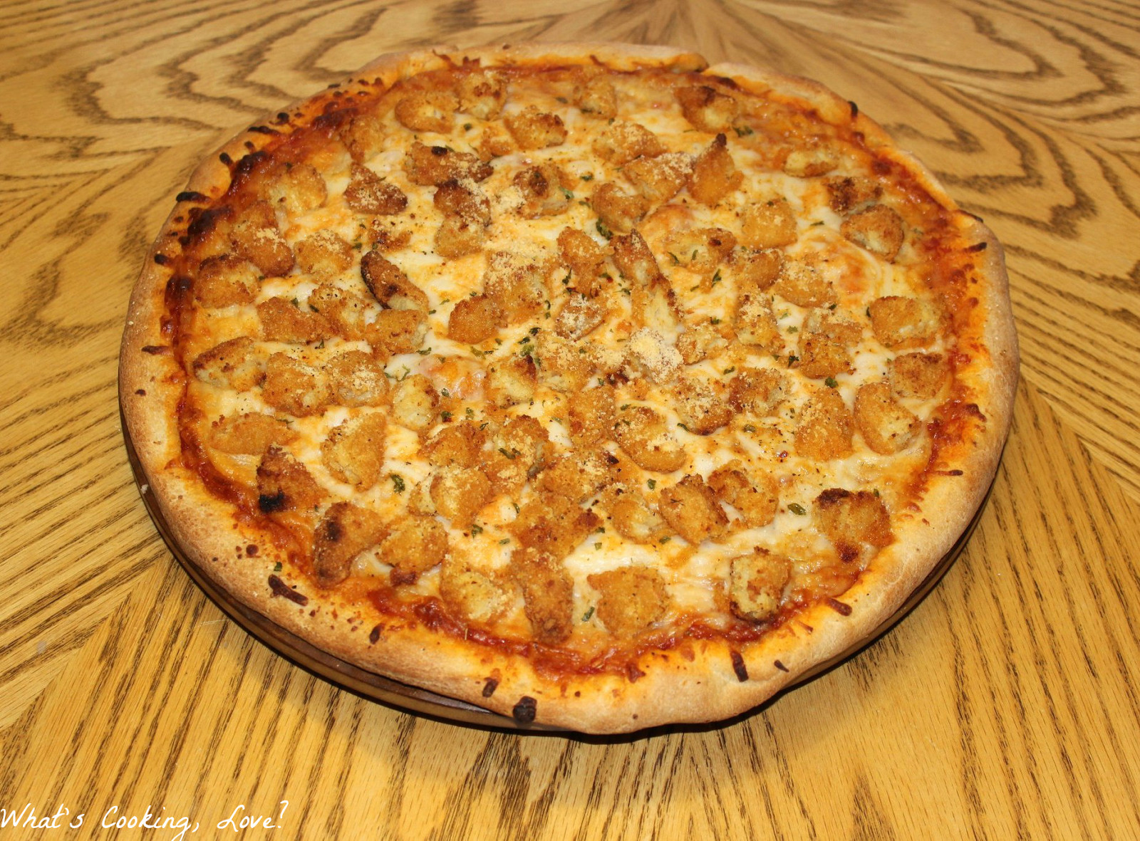 Chicken Parm Pizza  Chicken Parmesan Pizza Whats Cooking Love