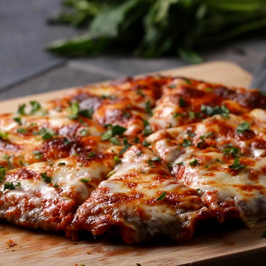 Chicken Parm Pizza  Chicken Parm Pizza Recipe by Tasty