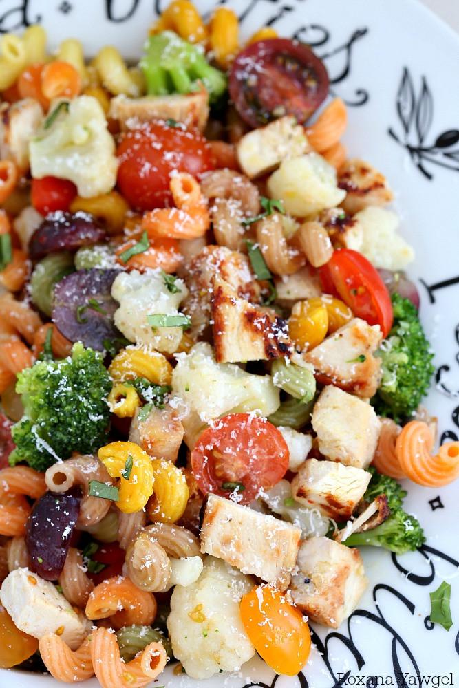 Chicken Pasta Salad  grilled chicken and pasta salad