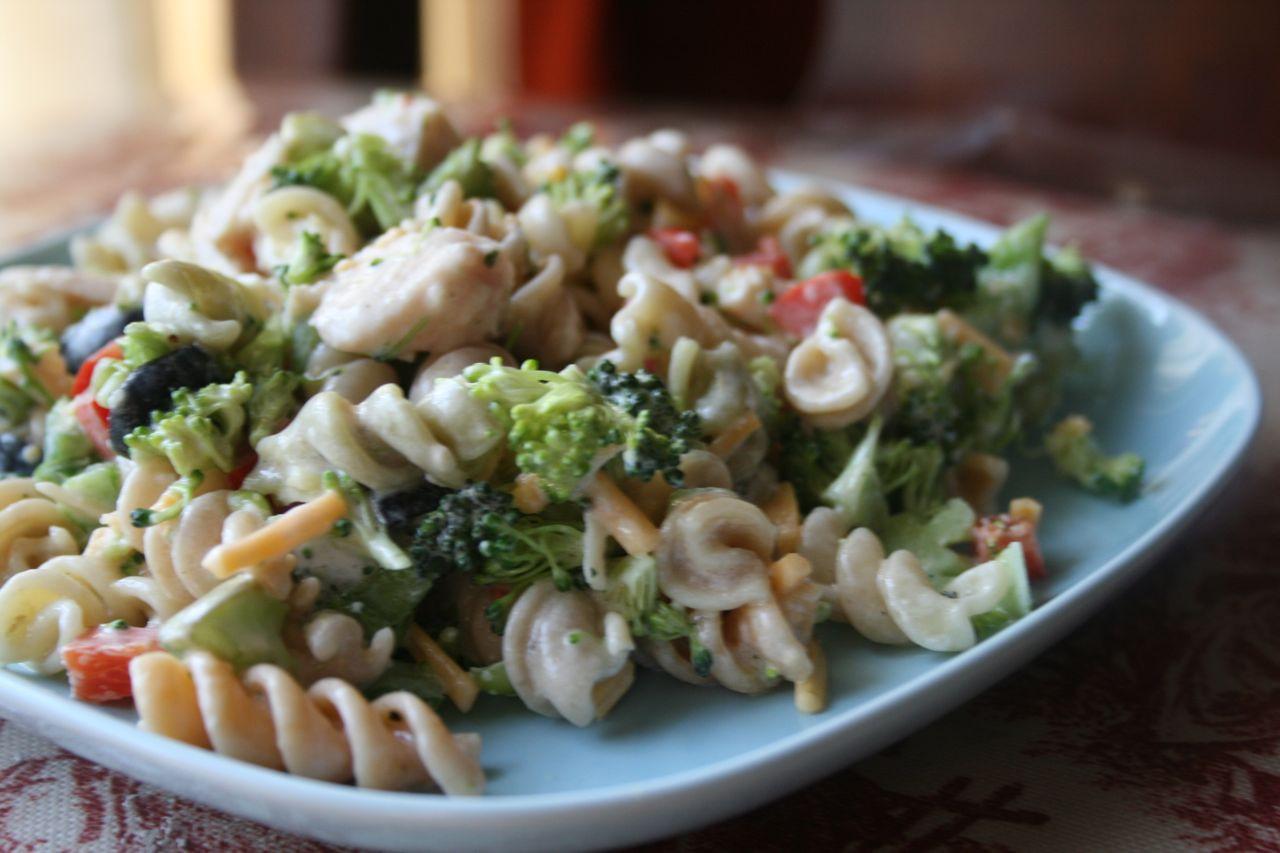 Chicken Pasta Salad  Recipe Shoebox Chicken Pasta Salad