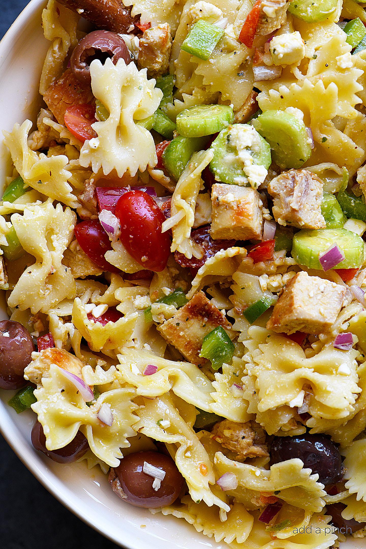Chicken Pasta Salad  Greek Chicken Pasta Salad Recipe Add a Pinch