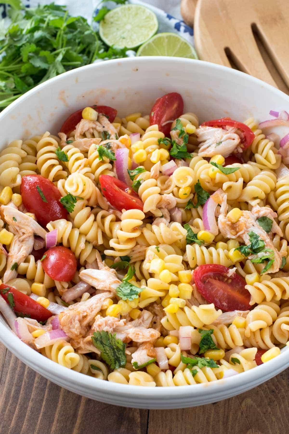 Chicken Pasta Salad  BBQ Chicken Pasta Salad Crazy for Crust
