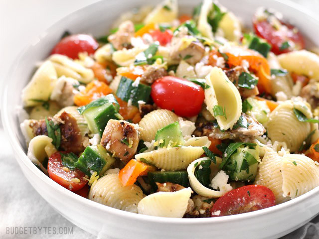 Chicken Pasta Salad  Mediterranean Diet Recipe Greek Chicken Pasta