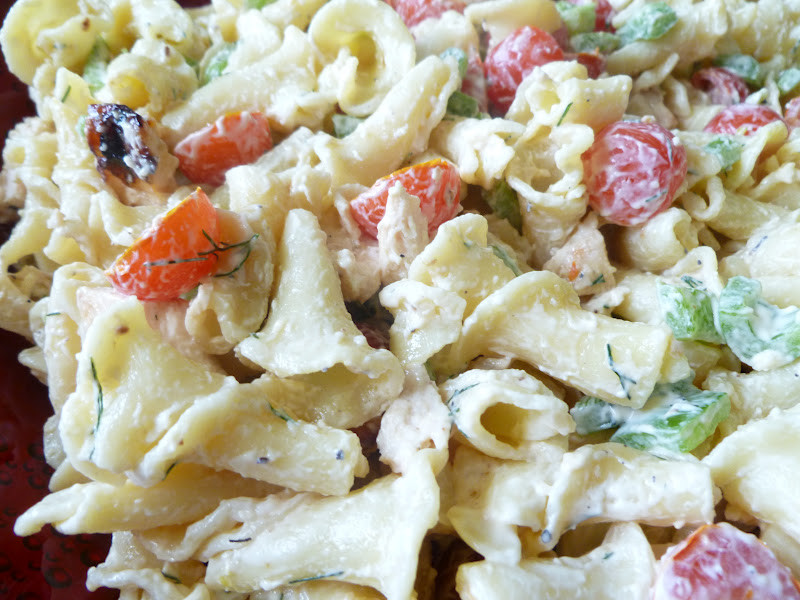 Chicken Pasta Salad With Mayo  ly From Scratch Grilled Chicken Pasta Salad with Garlic