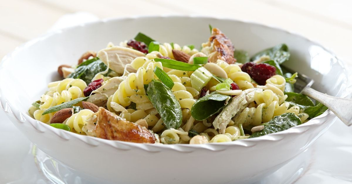 Chicken Pasta Salad With Mayo  Roast chicken & tarragon mayo pasta salad