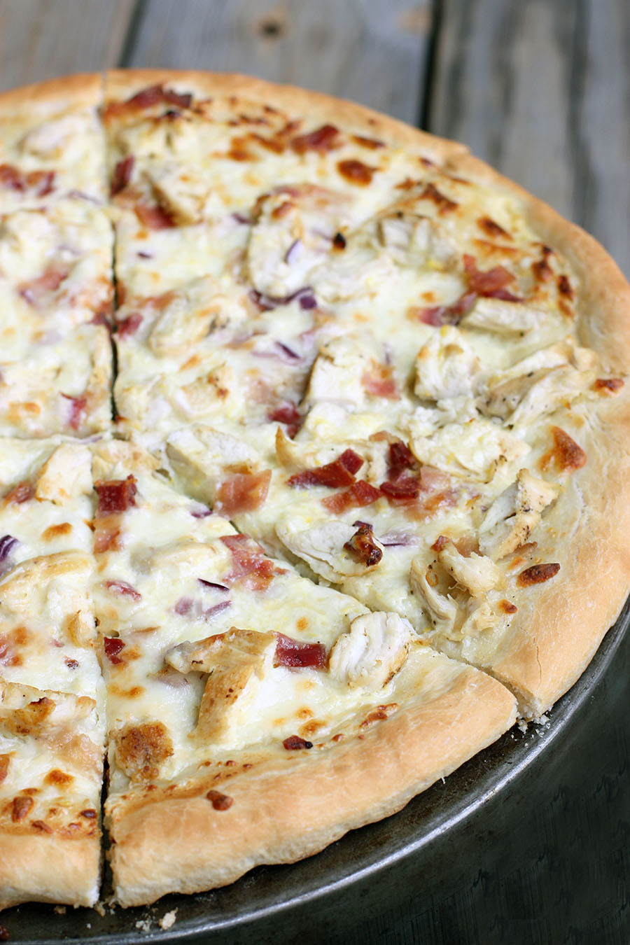 Chicken Pizza Recipe  Chicken Alfredo Pizza