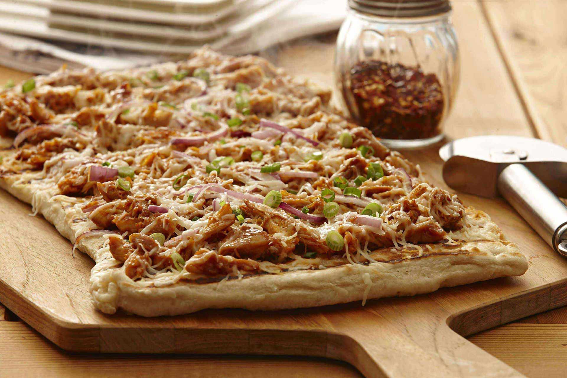 Chicken Pizza Recipe  Easy BBQ Chicken Pizza