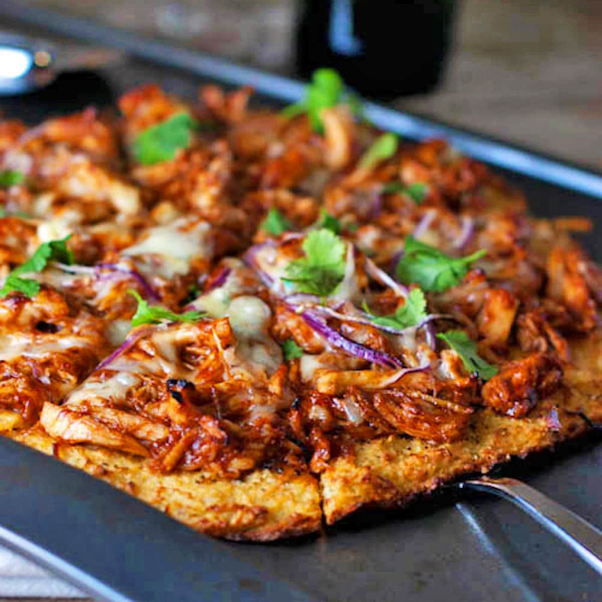 Chicken Pizza Recipe  Light BBQ Chicken Pizza Recipe Pinch of Yum