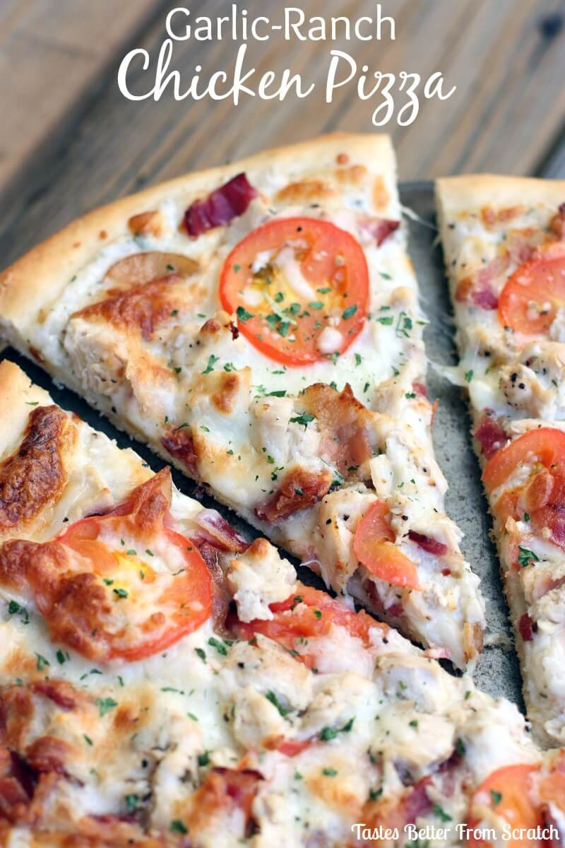 Chicken Pizza Recipe  Garlic Ranch Chicken Pizza Hello Summer I Heart Nap Time