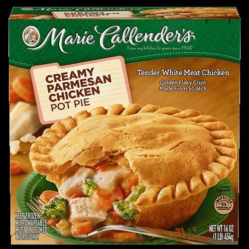 Chicken Pot Pie Calories  marie callender s creamy parmesan chicken pot pie