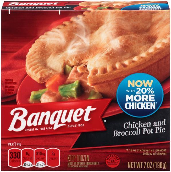 Chicken Pot Pie Calories  Banquet Chicken and Broccoli Pot Pie