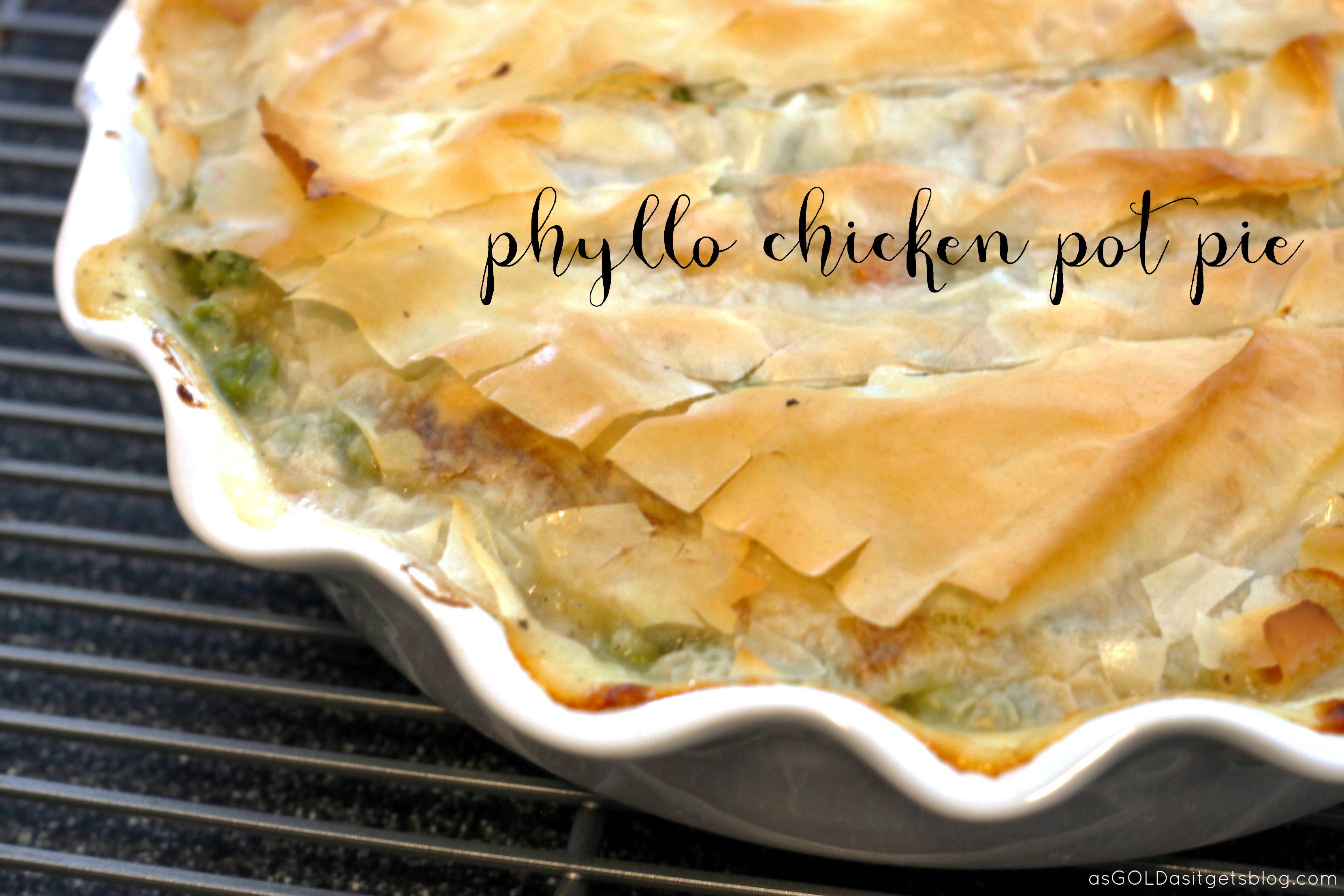 Chicken Pot Pie Calories  cut out calories cut out the crust phyllo chicken pot