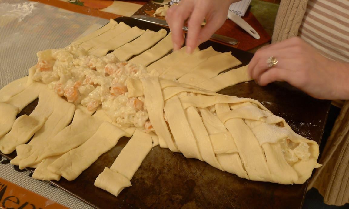 Chicken Pot Pie Crescent Braid  Chicken Pot Pie Crescent Braid Cooking with Amanda