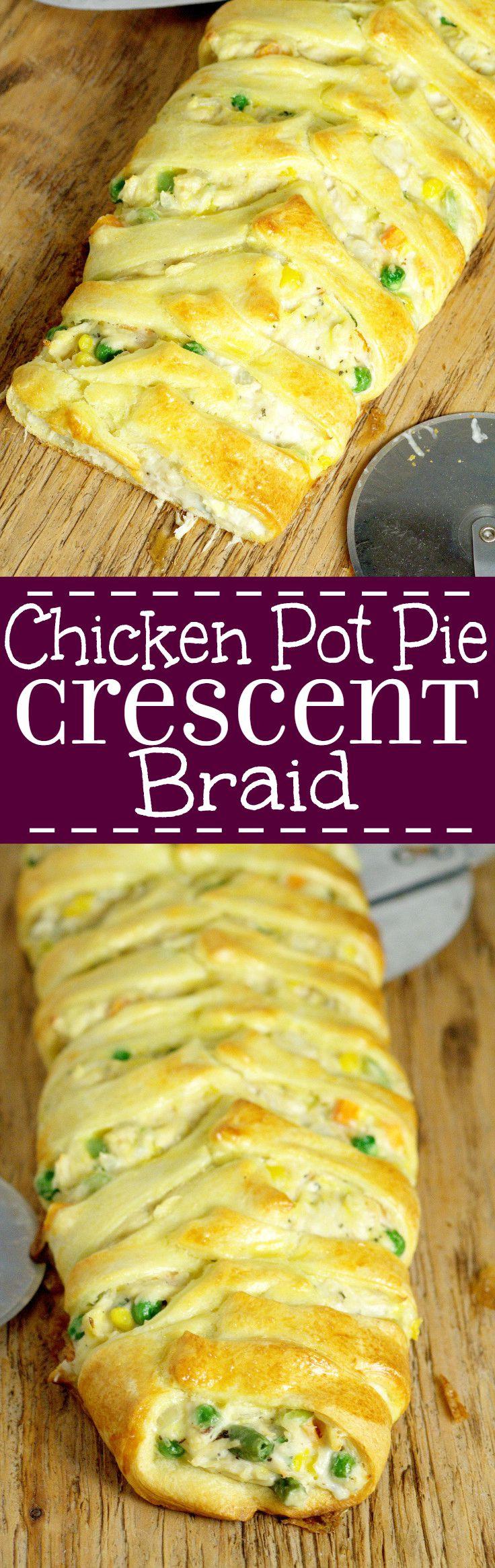 Chicken Pot Pie Crescent Braid  Chicken Pot Pie Crescent Braid