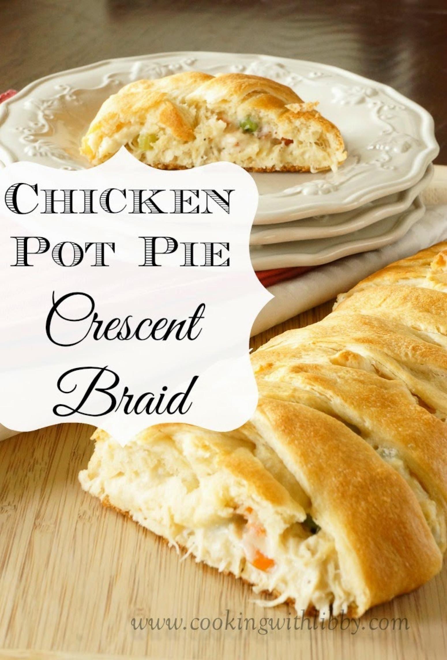 Chicken Pot Pie Crescent Braid  CHICKEN POT PIE CRESCENT BRAID Recipe 3