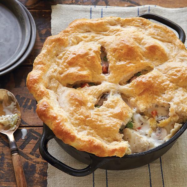 Chicken Pot Pie Crust Recipe  New England Chicken Potpie with Biscuit Crust Recipe