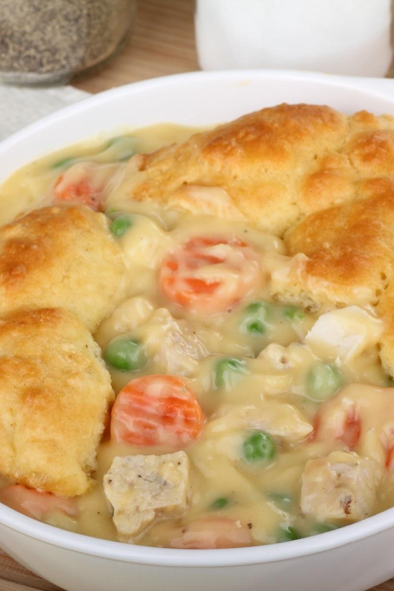 Chicken Pot Pie Crust Recipe  Mom s Fabulous Chicken Pot Pie with Biscuit Crust