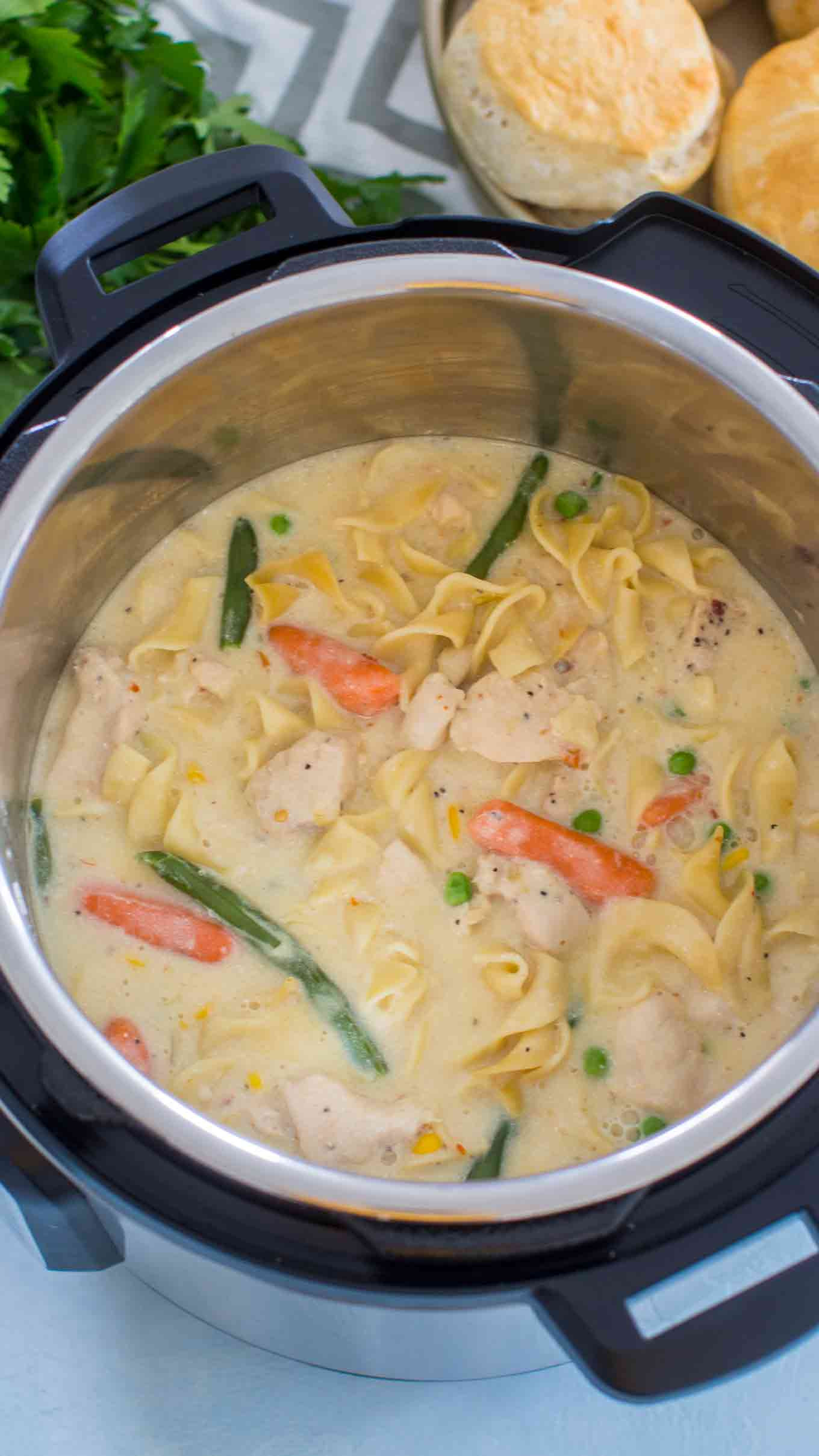 Chicken Pot Pie Instant Pot  Instant Pot Chicken Pot Pie Pasta Sweet and Savory Meals