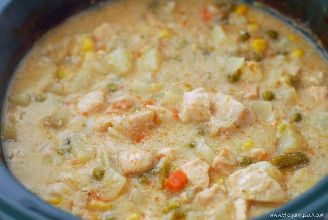 Chicken Pot Pie Soup Crock Pot  Slow Cooker Chicken Pot Pie Soup Recipe The Gunny Sack