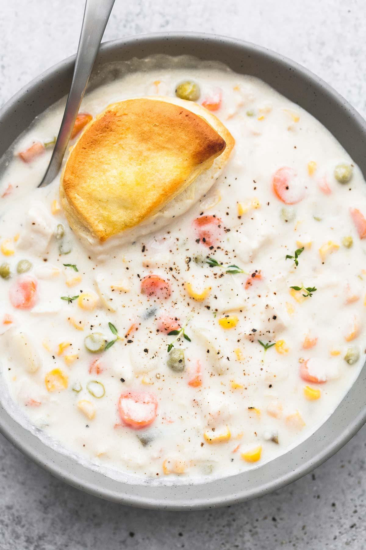 Chicken Pot Pie Soup Crock Pot  Slow Cooker Chicken Pot Pie Soup Creme De La Crumb