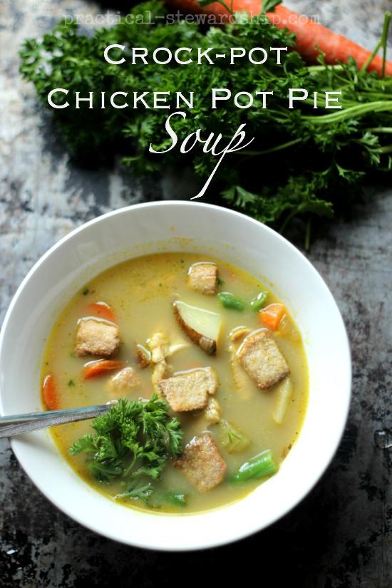 Chicken Pot Pie Soup Crock Pot  Slow Cooker Chicken Pot Pie Soup Stove Top Option