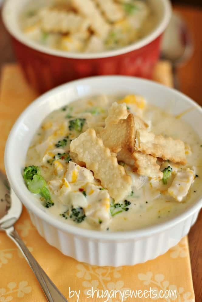 Chicken Pot Pie Soup Crock Pot  Chicken Pot Pie Soup Shugary Sweets