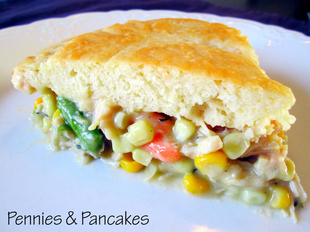 Chicken Pot Pie With Bisquick  Pennies & Pancakes Easy Chicken Pot Pie $2 91 each