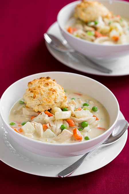 Chicken Pot Pie With Cream Of Chicken Soup  Chicken Pot Pie Soup and Parmesan Drop Biscuits Cooking