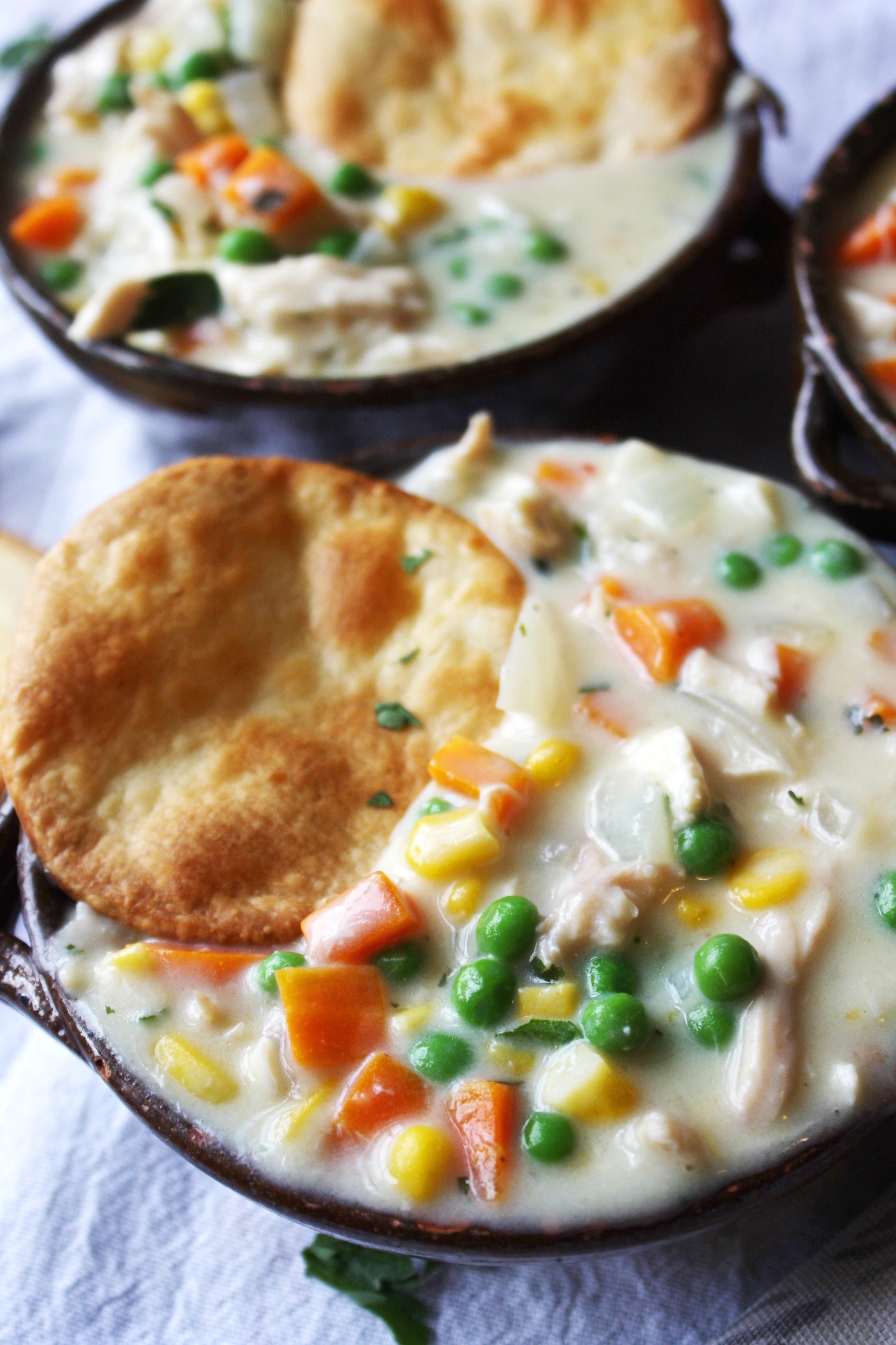 Chicken Pot Pie With Cream Of Chicken Soup  easy chicken pot pie recipe with pie crust and cream of